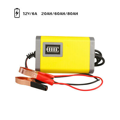 Car Motorcycle Battery Charger 12V 6A Full Automatic Intelligent Smart H6R8