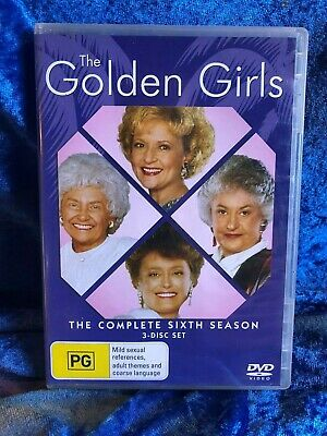 The Golden Girls Season 6 Region 4 DVD 3 Disk Set