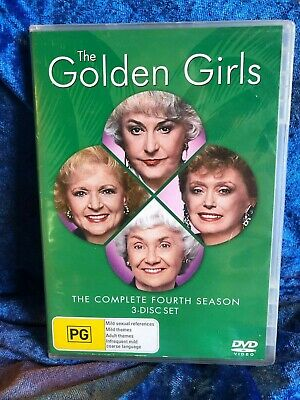 The Golden Girls Season 4 Region 4 DVD 3 Disk Set