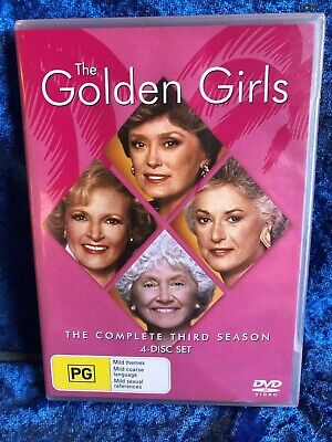The Golden Girls Season 3 Region 4 DVD 3 Disk Set