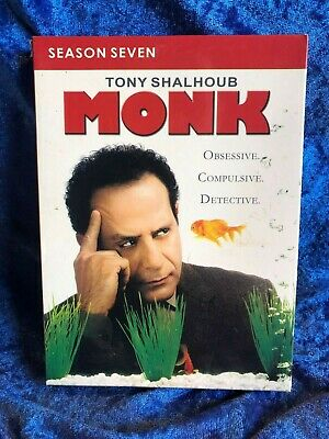 Monk Season 7 Region 4 DVD 4 Disk Set