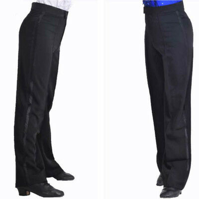 Mens Jazz Latin Salsa Dance Pants Smooth Competition Ballroom Show Trousers Long