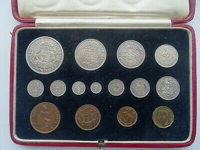 1937 George Vi, Specimen Coin Set, Fifteen Coins, Original Case