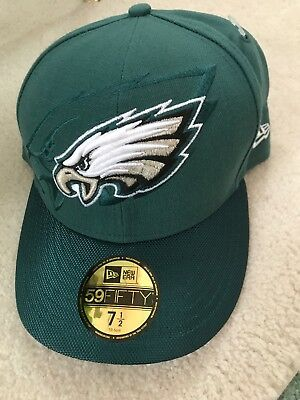 cheap for discount 2096d 311e3 Philadelphia Eagles New Era 59Fifty Nfl Sideline Green Fitted Hat Cap Size  7 1 2