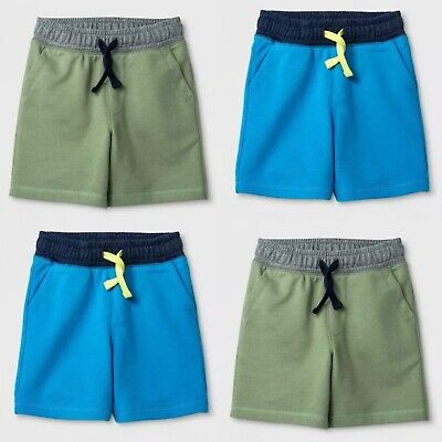 Toddler Boys' Pull-On Knit Shorts - Cat & Jack - Blue Sage Green 12M-4T #t980