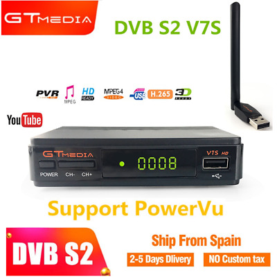 GTMEDIA V7S HD 1080P Full HD DVB-S2+USBWIFI Antenna MPEG-2 TV Satellite Receiver