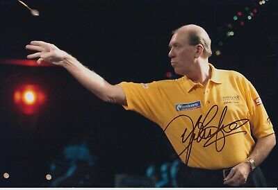 John Lowe Hand Signed 12x8 Photo - Dart Autograph.