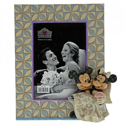 Disney Traditions Mickey & Minnie Wedding Photo Frame Picture 6001368 NEW