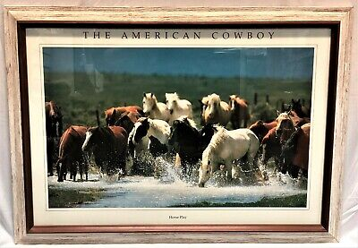 """Horse Play"" Photographic Poster by Christopher Marona in 30x21 Frame"