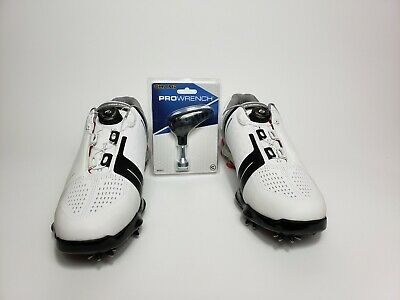 ad125780d77 UNDER ARMOUR SPIETH One BOA Golf Shoes 1292754-100 Wht Blk Gry Red ...