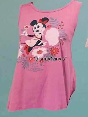 Disney Epcot Flower & Garden 2019 Minnie Passholder Tank Top Shirt X S M L XL 2X