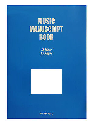 Music Manuscript Book 32 Pages 12 Staves per Page on White Paper Great Quality