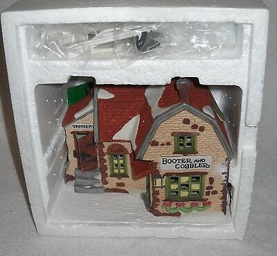 #9566 RETIRED NRFB Dept 56 Dickens' Village Series Booter and Cobbler
