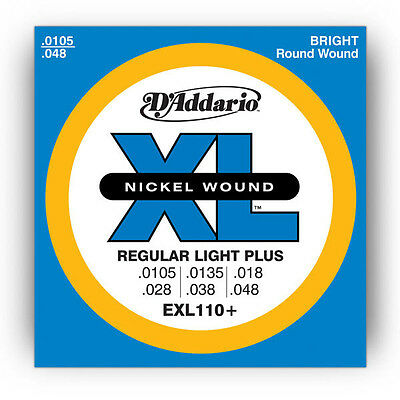 "D'addario Exl110+ String Set Daddario Electric Guitar Strings .105"" - .048"""