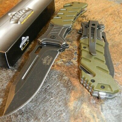 MASTER USA Spring Assisted Flipper Blade Tactical Folding Pocket Knife MU-A022GN
