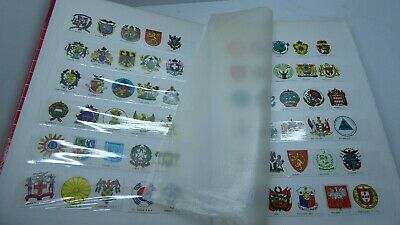 Stamp Album And Collection Of Assorted Stamps  Sheets Countries Flags Booklets
