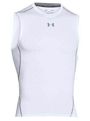 New Under Armour Mens Heatgear Compression Vest Sleeveless T-Shirt LARGE