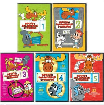 Rocky Bullwinkle and Friends Complete Series 1,2,3,4,5 Season 1-5 ~ NEW
