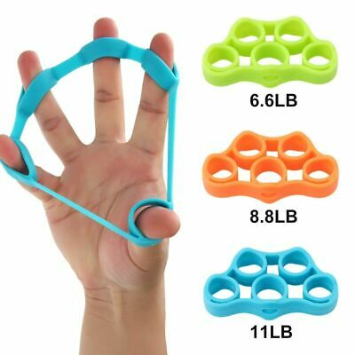 Finger Hand Resistance Grip Band Strength Training Stretch Rubber Fitness