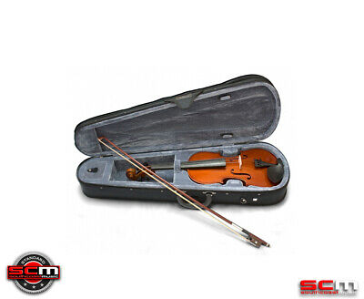 VALENCIA SV110 1/8 Eighth Size Violin Outfit + Case, Bow & Rosin STANDARD SETUP