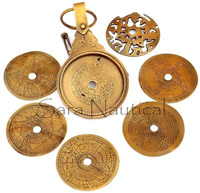 7'' Arabic Calendar Astrolabe Arabic Globe Navigation Astrological Calendar