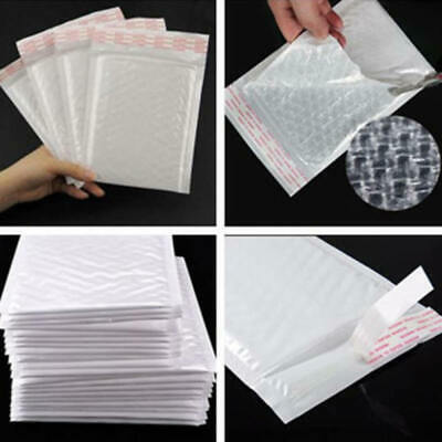 Chic White Poly Bubble Mailers Padded Envelopes Self Seal Bag Shipping Bags CYX