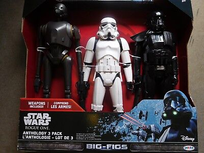 "Star Wars Rogue One K-2SO Stormtrooper Death Trooper 18"" Figure BIG FIGS 3 Pack"