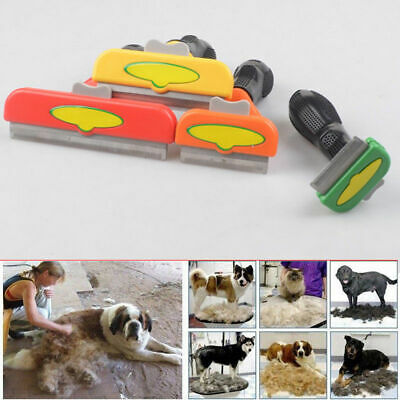 "FURminator Dog Brush 1.7-4"" BLADE SHORT LONG HAIR DESHEDDING TOOL for Dogs& Cats"