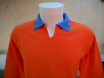 MAGLIA RUGBY PANZERI #9 VINTAGE 1970s ORANGE SHIRT JERSEY ANCIEN MAILLOT 0060