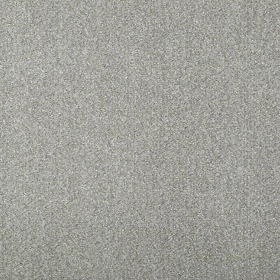 Light Grey Budget Saxony Carpet Felt Backing Flecked Hard Wearing Bedroom Cheap