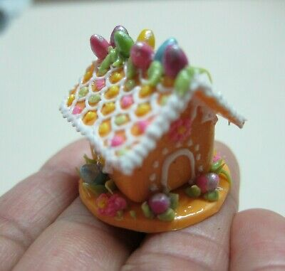 Dollhouse Miniature Easter Bread House Candy Sweet Food Bakery Holiday