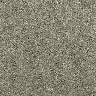 Stone Grey Budget Saxony Carpet Felt Backing Flecked Hard Wearing Bedroom Cheap