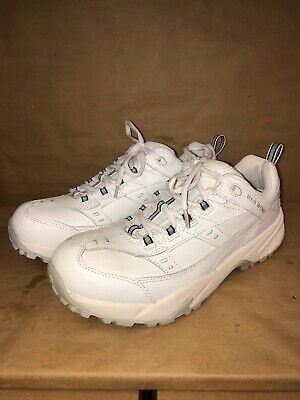 2d75a5209d042 RED WING WOMENS White Leather Safety Steel Toe 2334 Size 7.5 D No ...