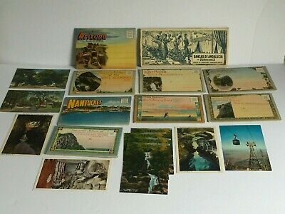 15+pc Vintage U.S. Postcard SOUVENIR Albums Arizona New Hampshire Canada MINT
