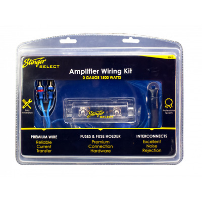 Stinger SSK0 - 1/0GA 1500W Amplifier Wiring Kit with 150A ANL Fuse