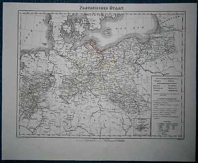 1848 Sohr Berghaus map KINGDOM OF PRUSSIA (#20)