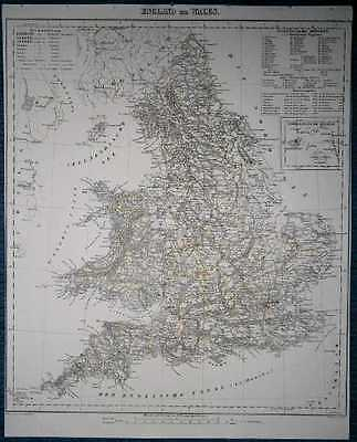 1848 Sohr Berghaus map ENGLAND AND WALES (#57)