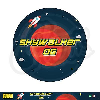 8 x Skywalker OG Cali Weed RX Stickers Labels & 100ml 3.5g Press it in Tuna Tins