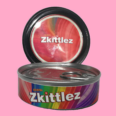 36 Zkittlez Skittles Cali Weed RX Stickers Labels & 100ml 3.5g Press it in Tins