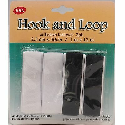 4 x 20 mm Hook /& Loop Adhésif Attache Arts Crafts Hobby bande à coudre Bandes