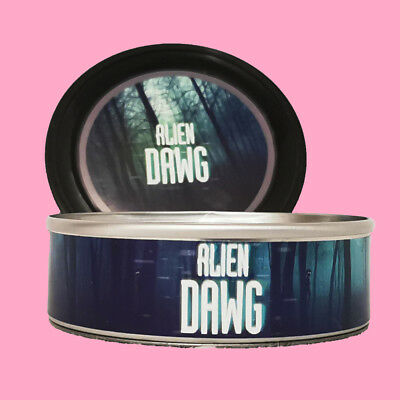 36 x Alien Dawg Medical Cannabis Weed RX Stickers Labels + 3.5g Press it in Tins