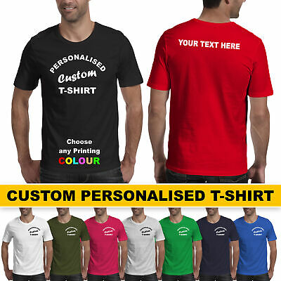 Personalised Custom Printed Promotional T-Shirt Men Women Lot Tee Party Stag Hen