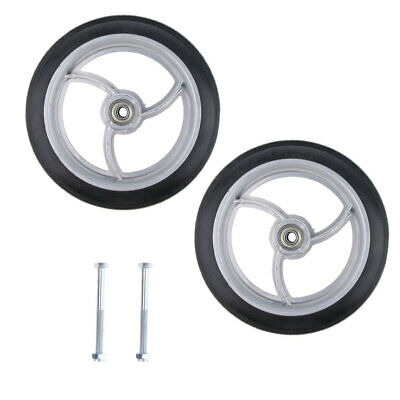2pcs Wheelchair Front Castor Wheels Replacement Part Tool 8 inch