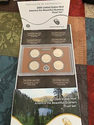 2019-S US Mint PROOF AMERICA THE BEAUTIFUL QUARTERS SET 5 ATB with Box/COA EXC