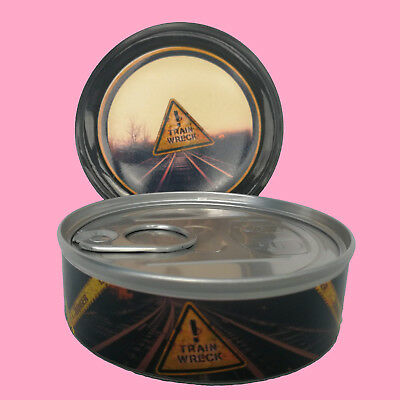288 Train Wreck Medical Cali Weed RX Stickers Label & 3.5g Press it in Tuna Tins