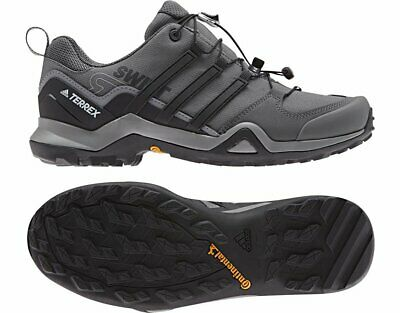 more photos 0070f 9580e Adidas Outdoor Terrex Swift R2 Grey Three Black Grey Five Mens Hiking Shoes