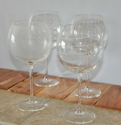 d6062ab9e39 Mikasa Clear Cheers Balloon Wine Goblets Set of Four New No Box 9 1/8