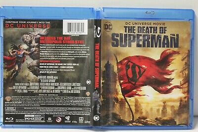 The Death of Superman (Blu-ray/DVD, 2018, 2-Disc Set) FREE Shipping DC Comics