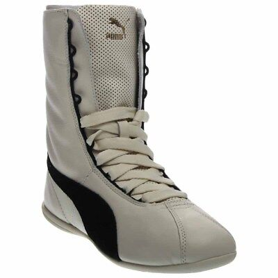 4ded75a2b5d PUMA FENTY BY Rihanna Eskiva Over the Knee Boot White Leather 363017 ...