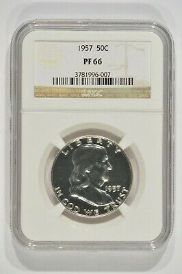 1957 Franklin Proof Silver Half Dollar 50c NGC PF66 3781996-007